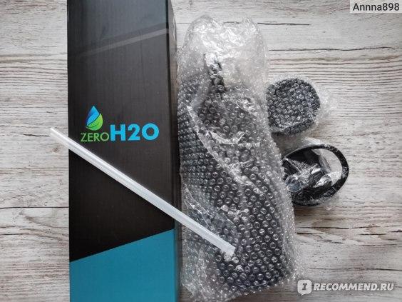 Бутылка для воды ZEROH2O  с 3-мя крышками, из нержавеющей  стали с вакуумной  изоляцией, для холодных и горячих  напитков фото