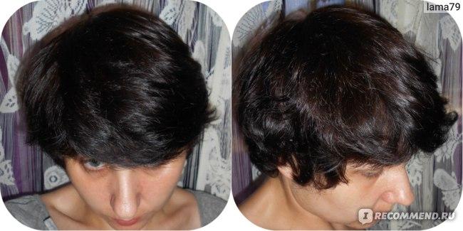 волосы высушены естественным путем
