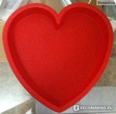 Силиконовая форма для выпечки ХОРС Сердце фото