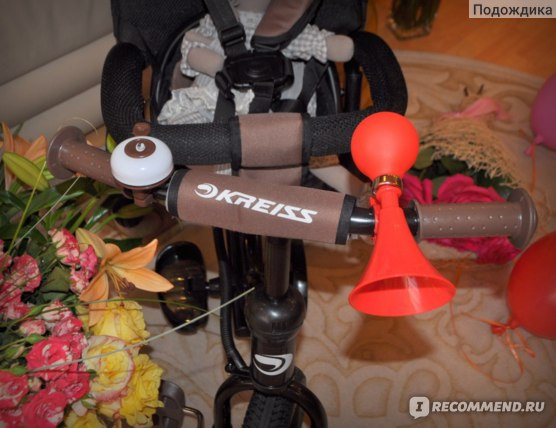 Велосипед 3-х колесный Kreiss  с тентом Премиум фото