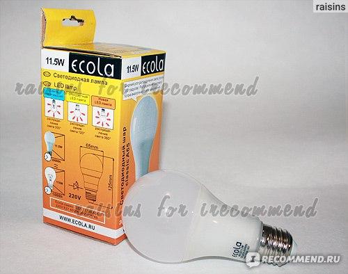 Светодиодная лампа-шар Ecola