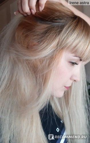 Эффект на осветлённых волосах