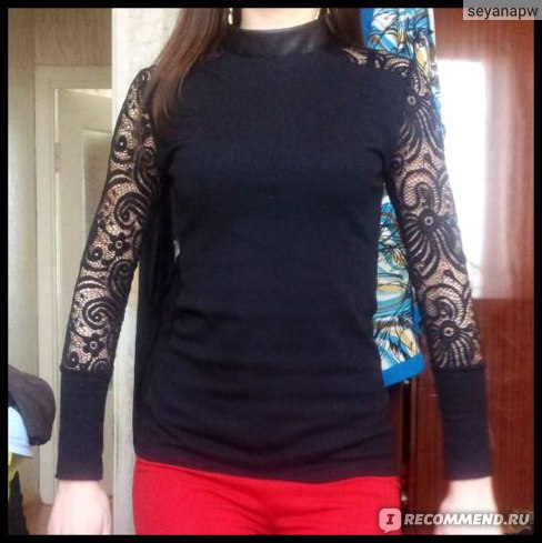 Кофта AliExpress New Hot Embroidery Floral Lace Crochet  Shirt  фото