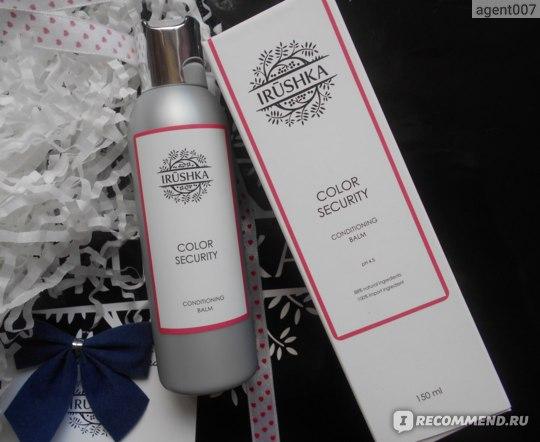Бальзам для окрашенных и тусклых волос Irushka COLOR SECURITY conditioning balm фото