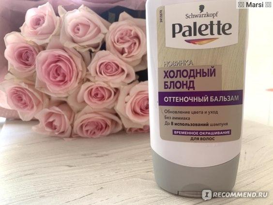 Оттеночный бальзам для волос Palette фото