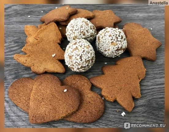 А это особенные сладости - приготовлены вручную на Новый Год (25 декабря 2018)