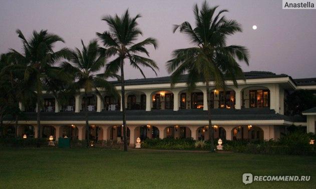 Ночь. Отель Taj Exotica, Гоа, Индия.