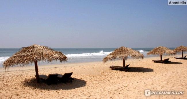 Пляж отеля Taj Exotica, Гоа, Индия.