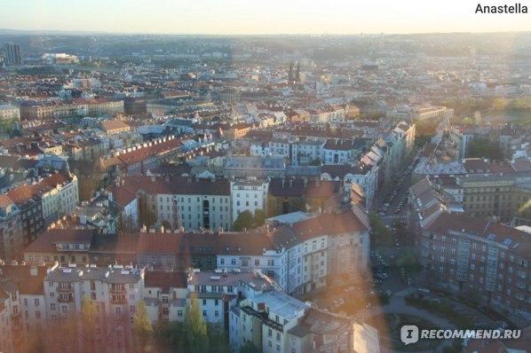 Вид на Прагу из ресторана с телевизионной башни. Прага.