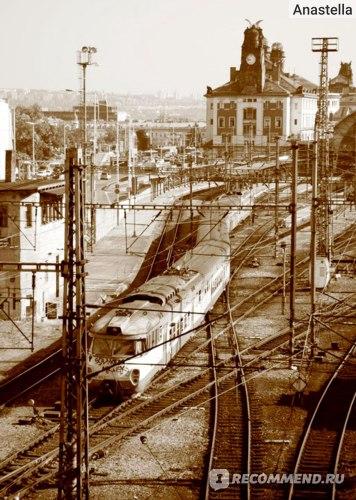 Железнодорожный вокзал в Праге.