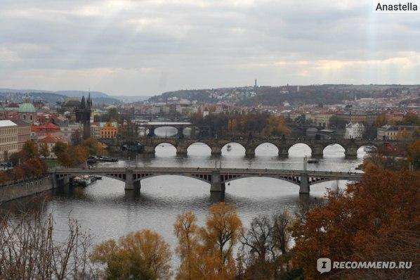 Знаменитые Пражские мосты. Вид из парка Летна.