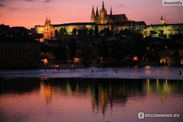 Романтичный закат. Градчаны (Пражский Град). Прага.