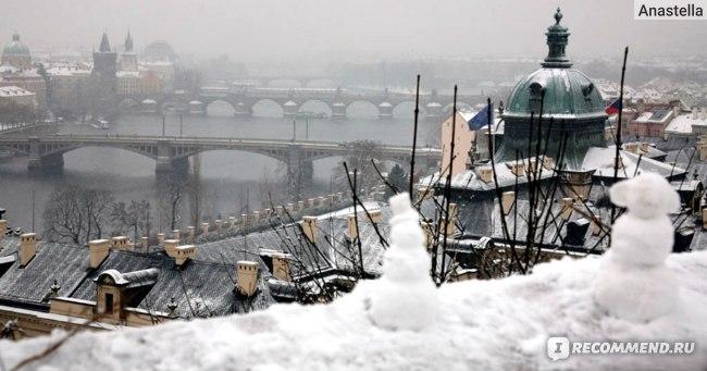 Зимняя Прага. Мосты.