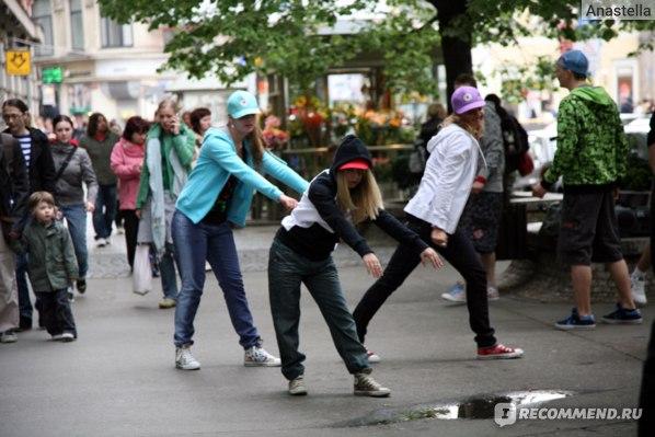 Уличные танцы. Прага.