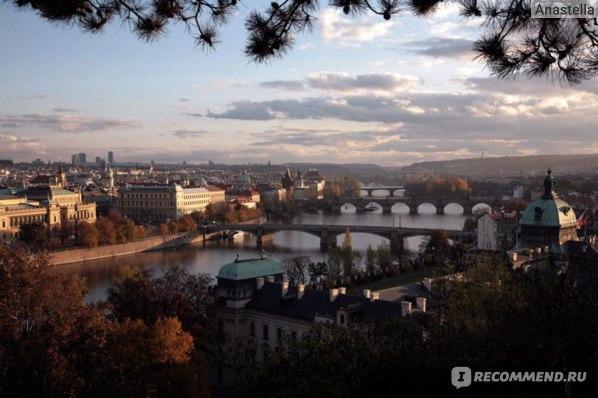 Мосты Праги. Закат.