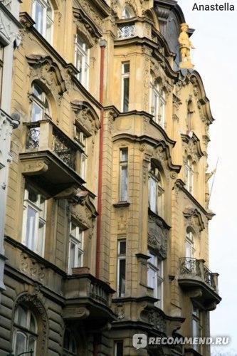 Домики на Парижской улице. Прага.