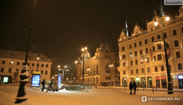 Снежный январь в Праге. Площадь Революции.