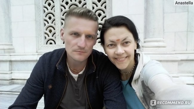 Мы в Храме Кришны-Баларамы во Вриндаване
