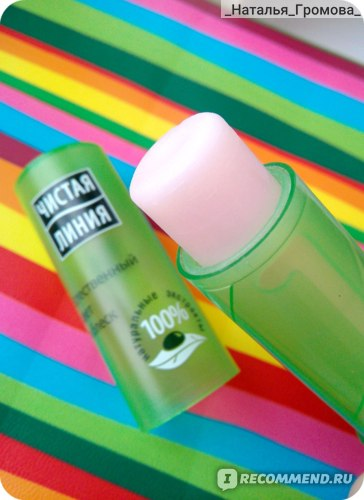 Бальзам для губ Чистая линия Естественный цвет и блеск фото