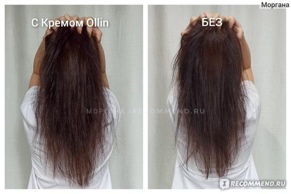 Эффект от применения. Крем для волос Ollin Perfect Hair 15в1 LEAVE-IN cream spray