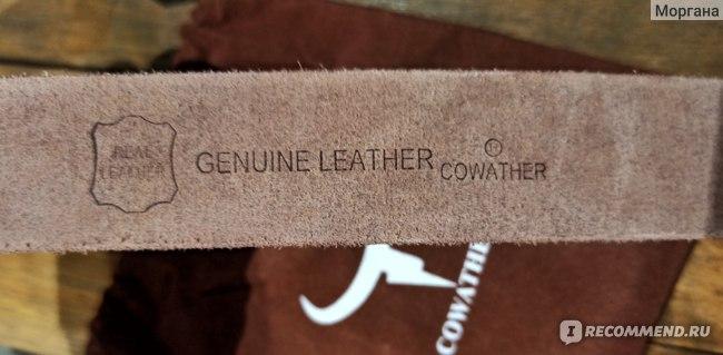 Ремень мужской COWATHER из натуральной кожи