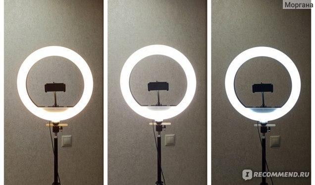 Разный температурный режим. Лампа кольцевая светодиодная Ring Fill Light 30 см