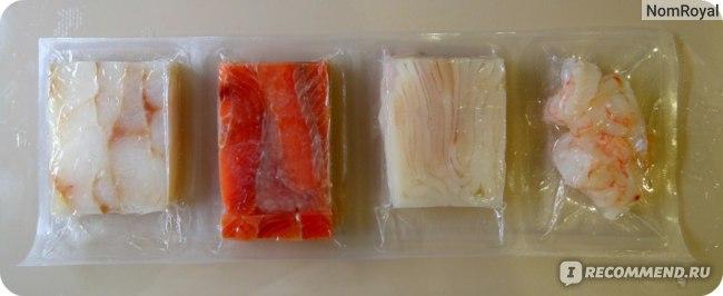 Рыба ВкусВилл / Избёнка Ассорти рыбное с морепродуктами для супа фото