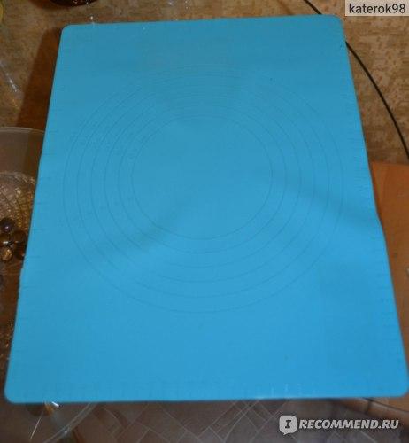 Силиконовый коврик для теста с мерными делениями Fix Price фото
