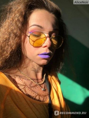Тени для век Lamel Professional Neon Eyeshadow Стойкие неоновые  фото