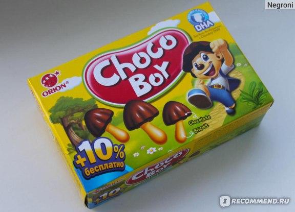 Печенье  Orion   Choco Boy фото