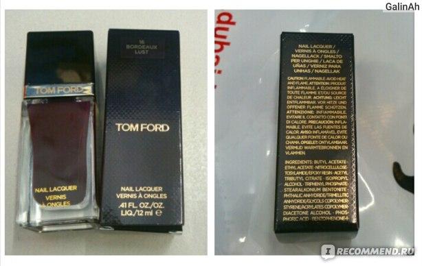 Лак для ногтей Tom Ford  фото