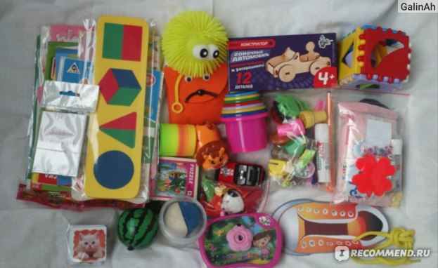Наполнение рюкзачка Baby travel box для девочки (2-4 года)