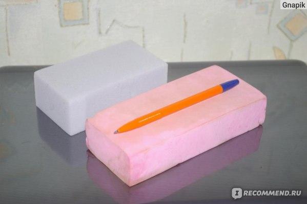 Губка для сантехнических поверхностей Чистый дом Чудо-губка фото