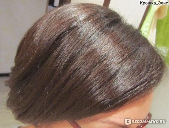 сразу после мытья (волосы высушены феном)