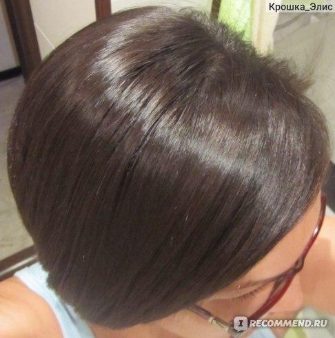 сразу после мытья (волосы уложены утюжком)