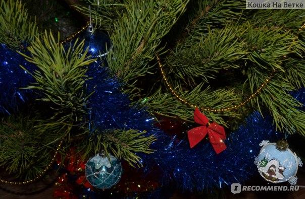 Новогоднее украшение Бант 12 штук