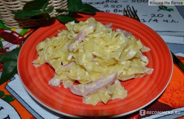 Лапша-лагман со сливками и сыром