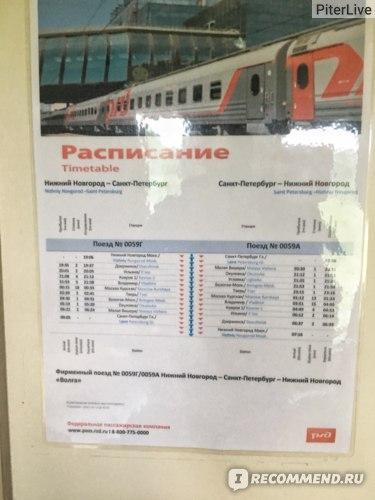 "Фирменный поезд 059 ""Волга"" Нижний Новгород - Санкт-Петербург фото"