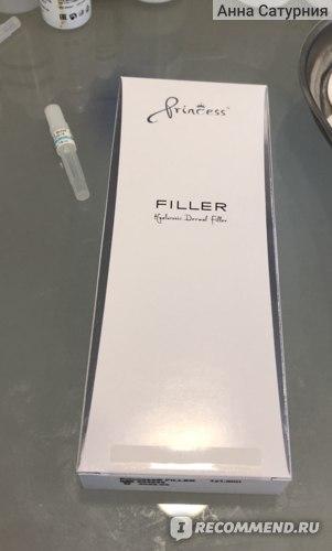 Контурная пластика с филлером Princess Filler  фото