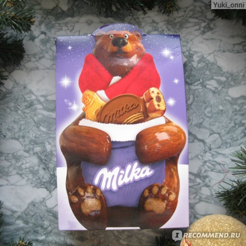 "Подарочный набор Milka MIX ""Дед Мороз или Медведица"" фото"