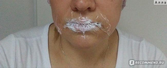 На губах крем с лидокаином