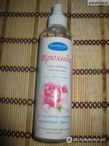 Флакон с душей розы