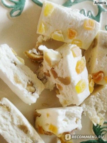 Конфеты Шарлиз Нуга с орехами и цукатами фото