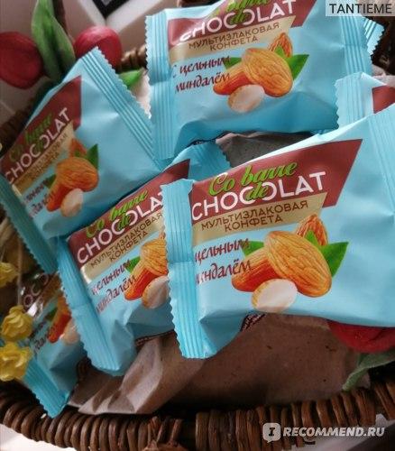 Конфеты ООО «В.А.Ш. ШОКОЛАТЬЕ+» Co barre de Chocolat Мультизлаковые с миндалем фото