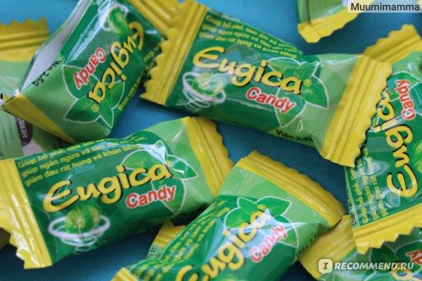 Конфеты Eugica с эфирными маслами.