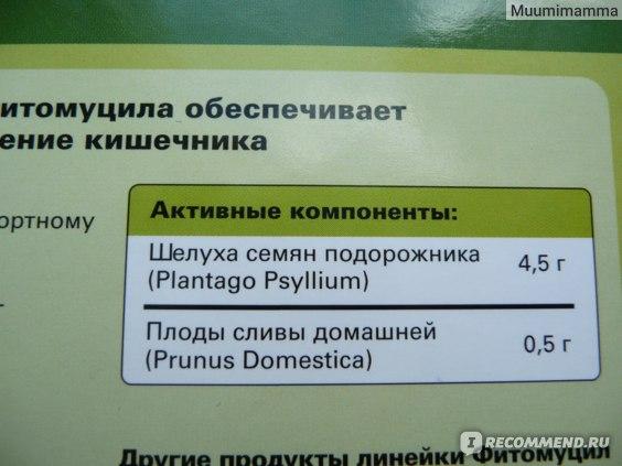 """Растительный препарат """"Фитомуцил"""", состав."""