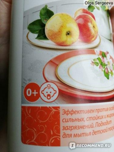 Средство для мытья посуды Faberlic Концентрированное с биоэнзимами с ароматом яблок  фото