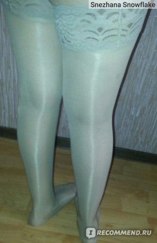 Мои ножки в чулках (со вспышкой)