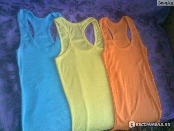 Майка AliExpress Temperament cotton long T-shirt фото