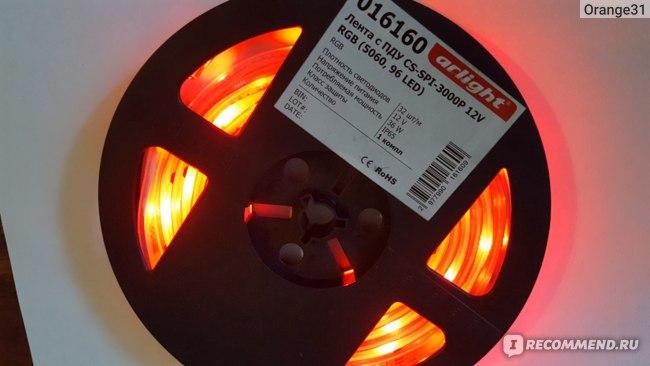 Светодиодная лента Arlight с ПДУ CS-SPI-3000P 12V RGB (5060 96LED) фото